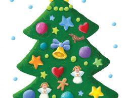 Acrylic illustration of Xmas tree