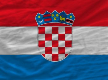complete national flag of croatia covers whole frame, waved, crunched and very natural looking. It is perfect for background